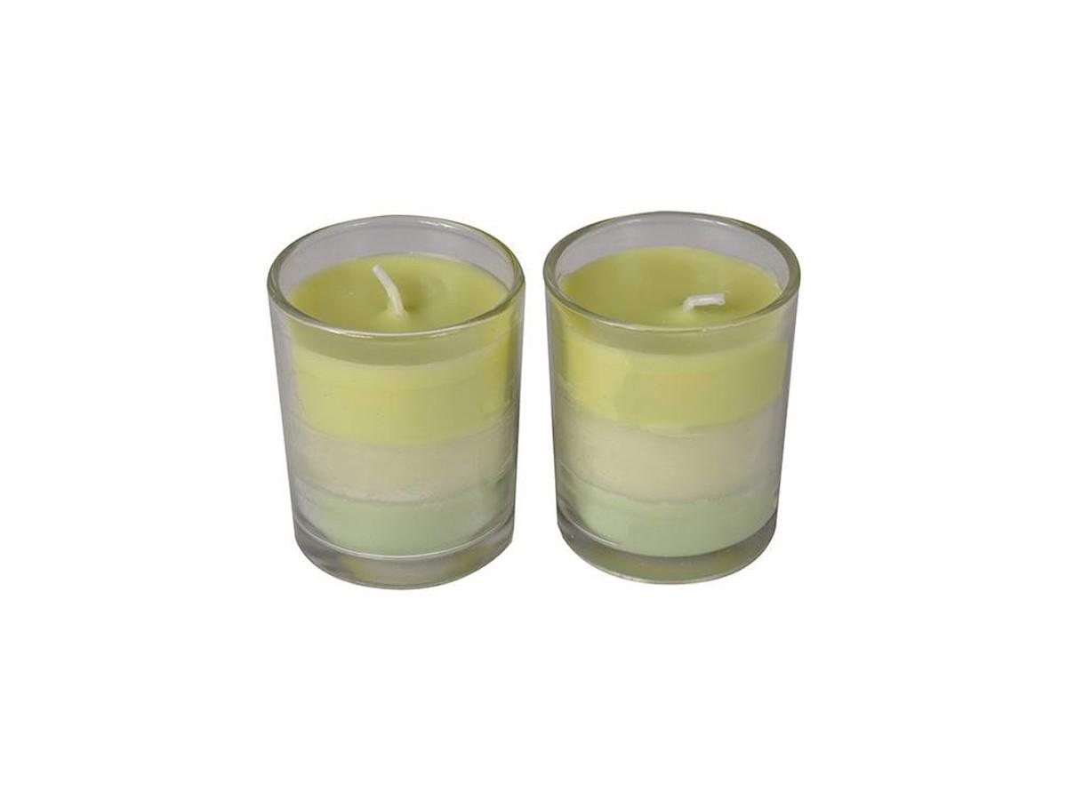 Conjunto 2 Velas Copo Trio Fragrance Emerald Isle  - Lemis