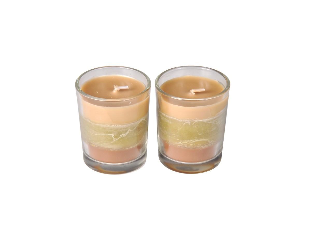 Conjunto 2 Velas Copo Trio Fragrance Jardim Zen  - Lemis