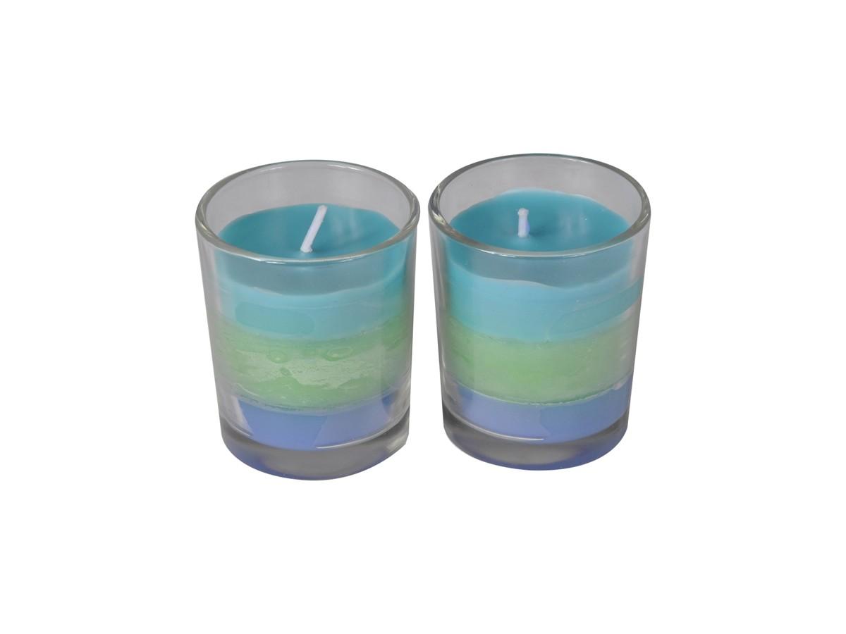 Conjunto 2 Velas Copo Trio Fragrance Sky Diver  - Lemis