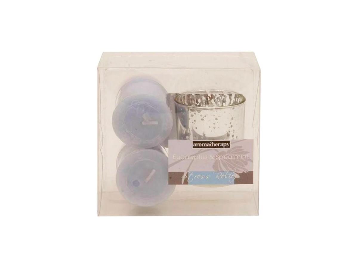 Conjunto 2 Velas Perfumadas Com Castical  - Lemis