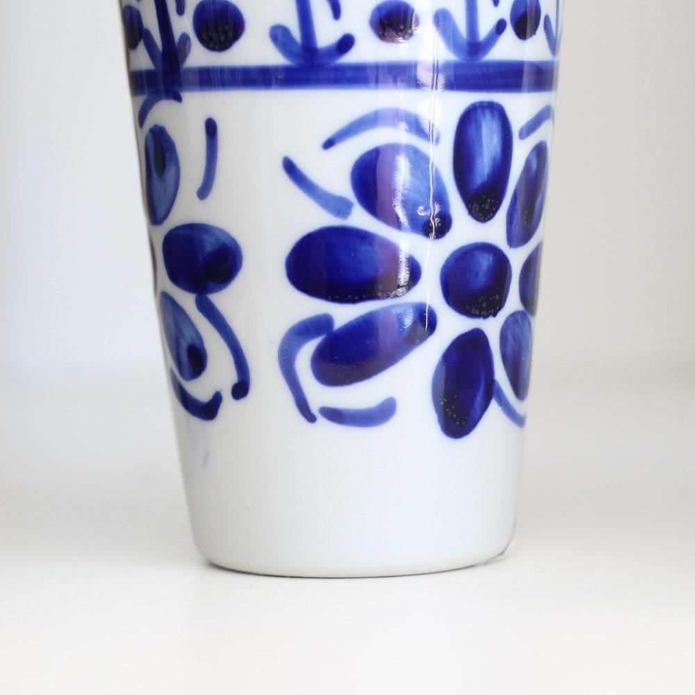 Copo Colonial Azul Floral 120 ml  - Lemis