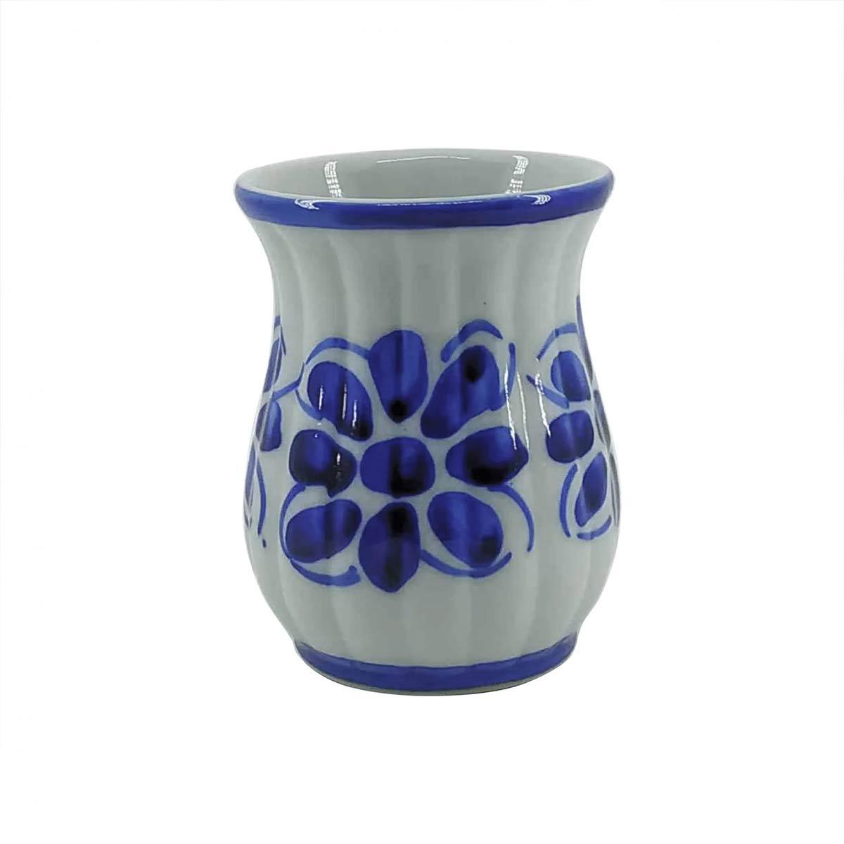 Copo Colonial Azul Floral 200 ml  - Lemis