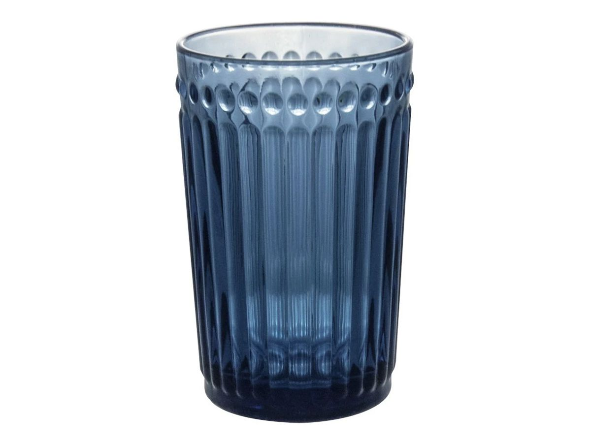 Copo De Vidro 370 Ml Azul Incasa  - Lemis