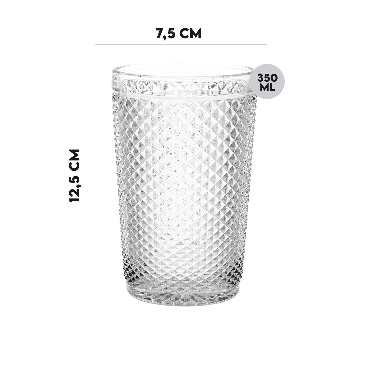 Copo de Vidro Imperial Transparente 350 ml  - Lemis
