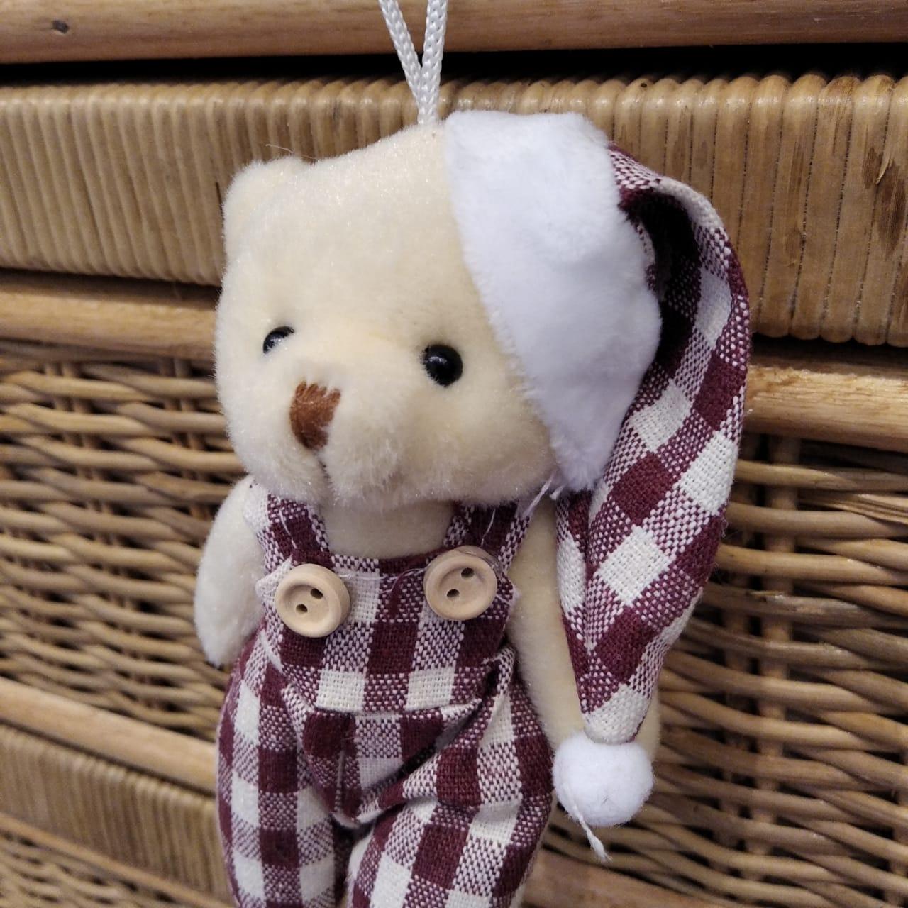 Pendente Natalino Urso Pelúcia Enfeite Urso Natal Pendurar  - Lemis