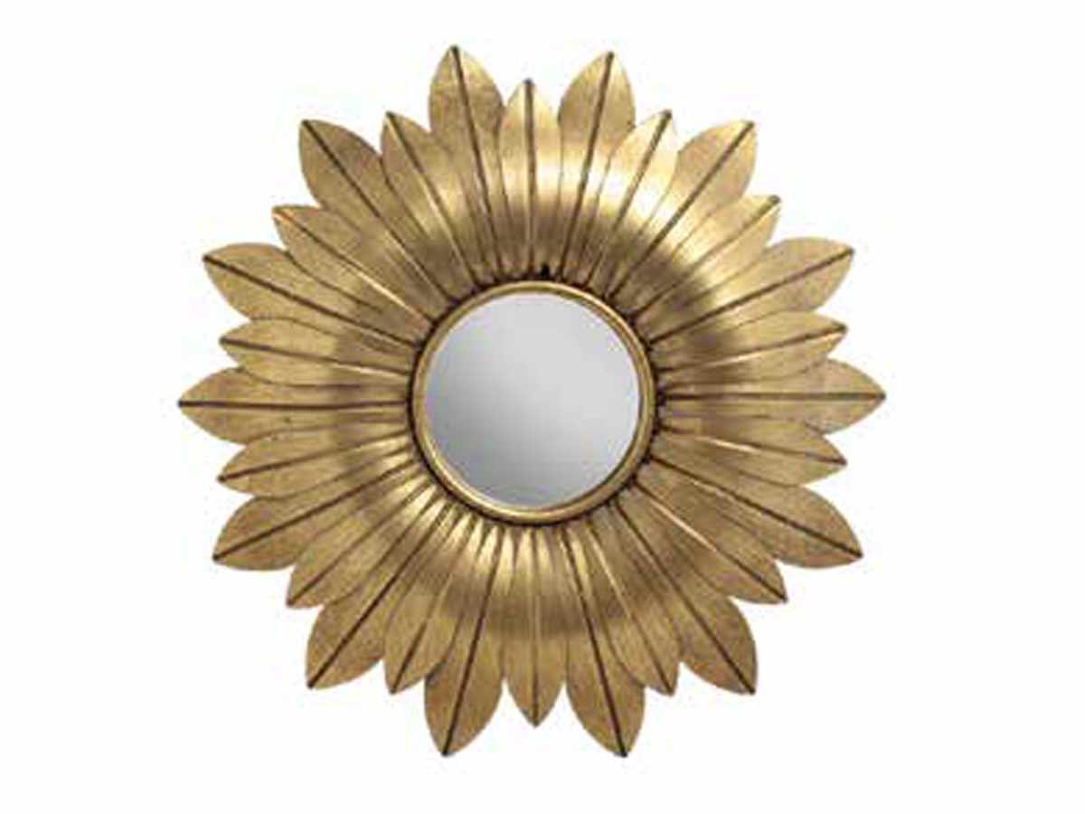 Espelho Com Moldura Em Metal Trog I Kz Home Stock  - Lemis