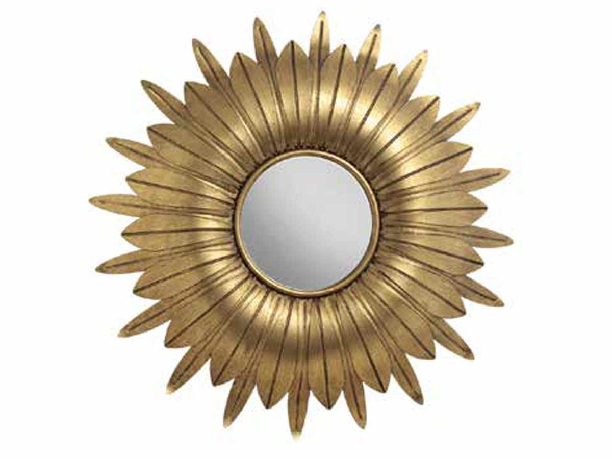 Espelho Com Moldura Em Metal Trog II Kz Home Stock  - Lemis