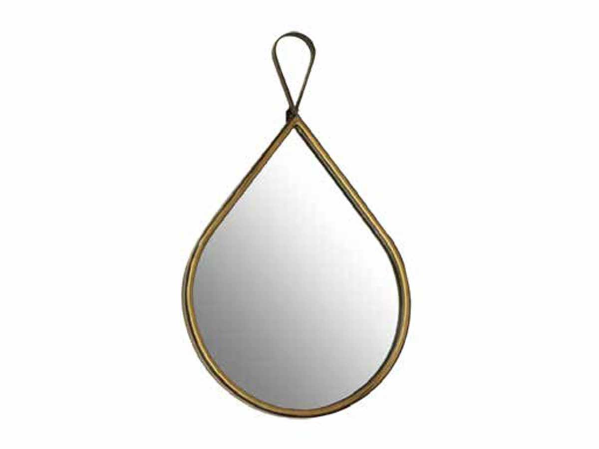 Espelho Com Moldura Em Metal Zadar II Kz Home Stock  - Lemis