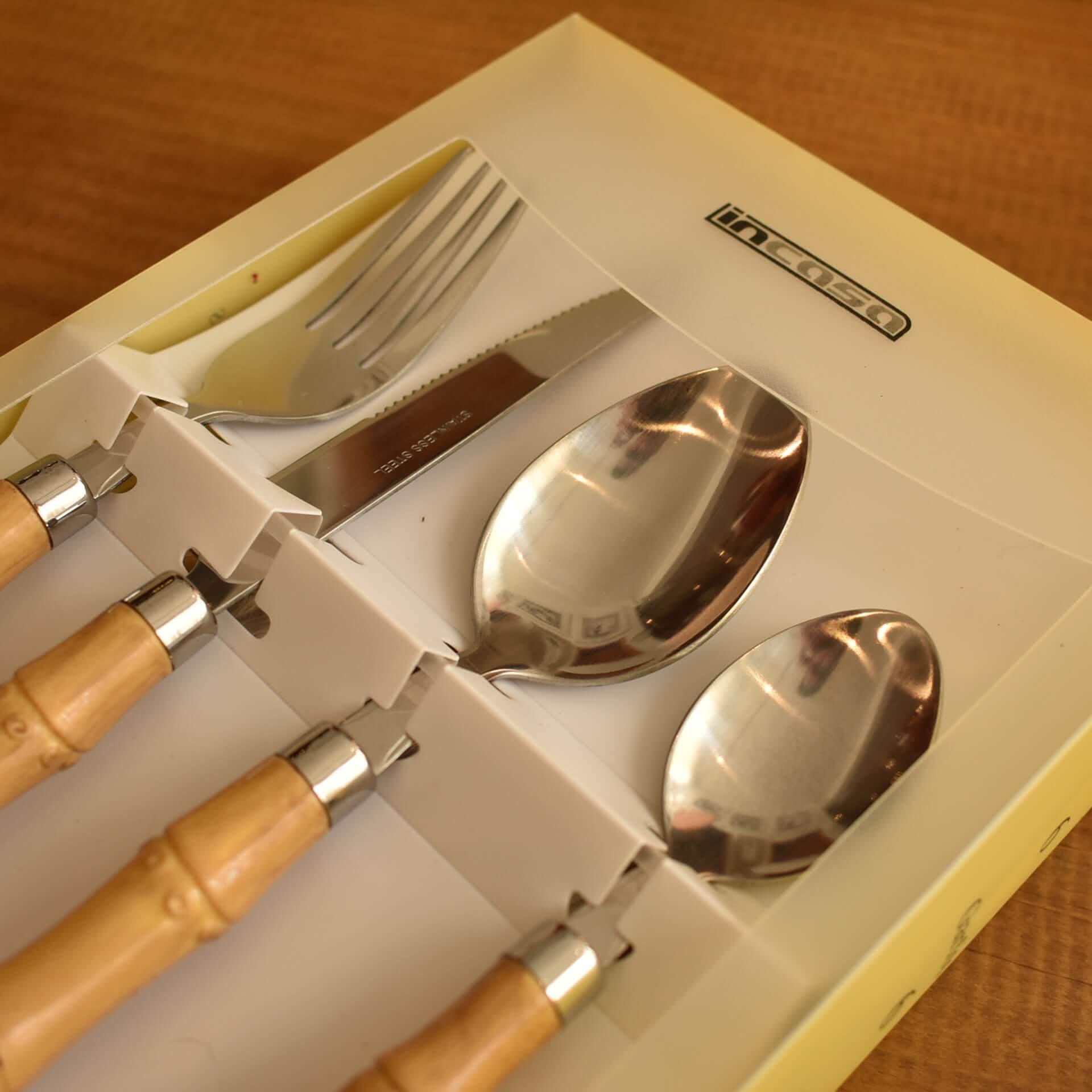 Faqueiro Bambu 24 peças  - Lemis