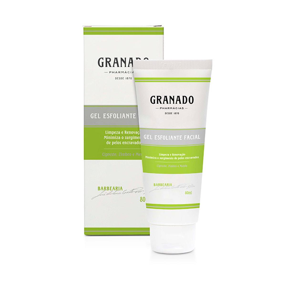 Gel Esfoliante Facial Granado 80ml  - Lemis