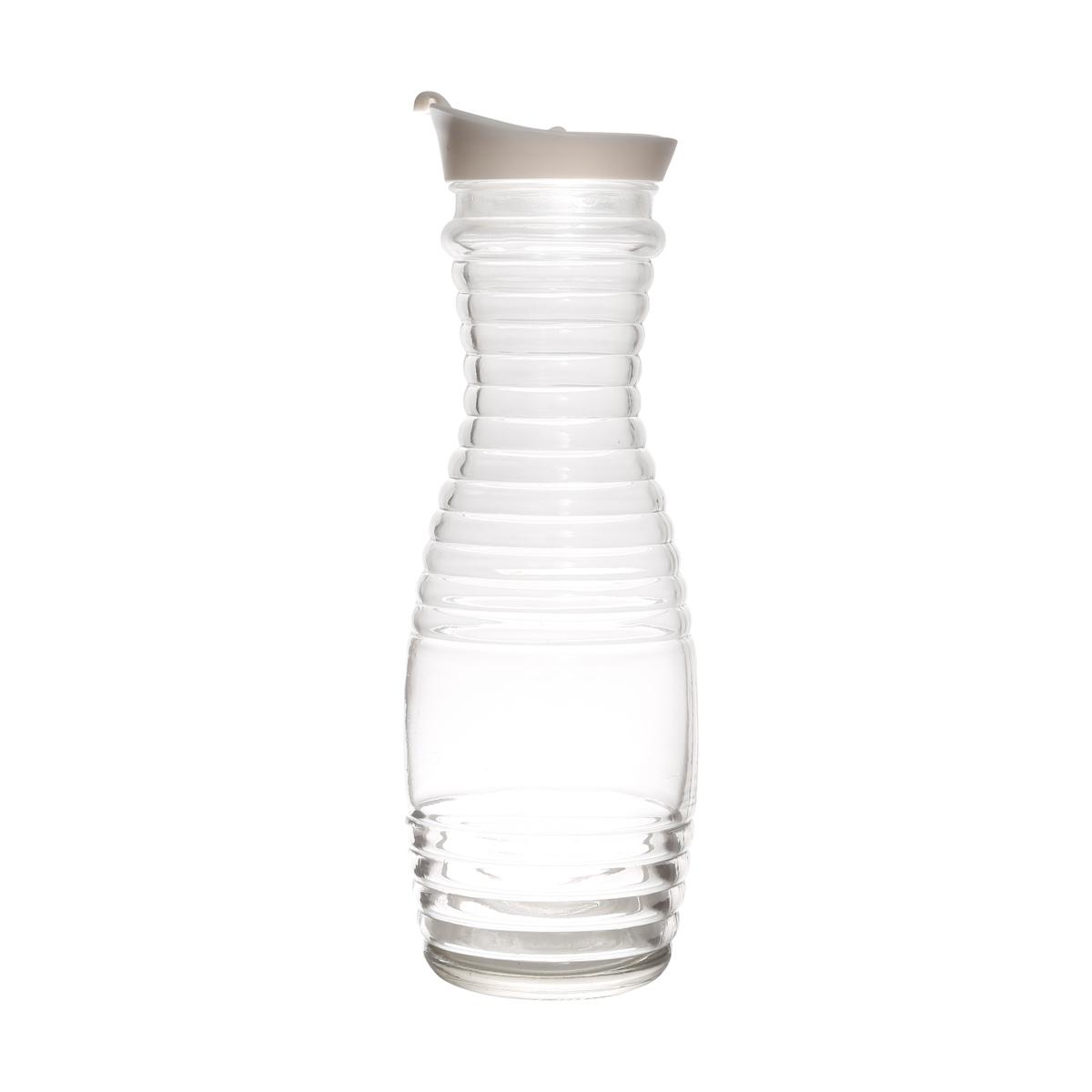 Jarra de Vidro 1L Sodo-Cálcico com Tampa Plástica Lyor  - Lemis