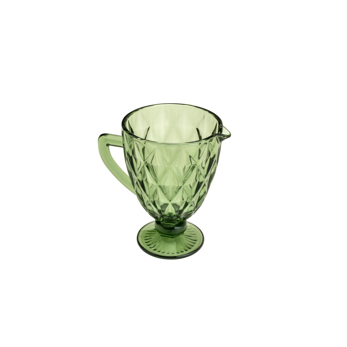Jarra de Vidro Sodo Calcico Diamond Verde 1,1 litro  - Lemis