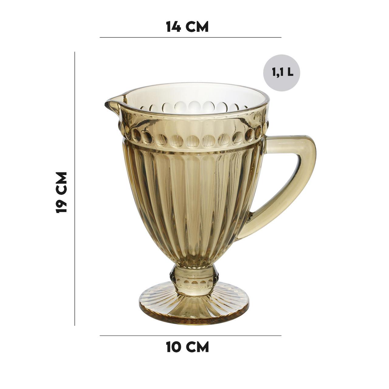 Jarra de Vidro 1,1L Sodo Calcico Empire Ambar Metalizado  - Lemis