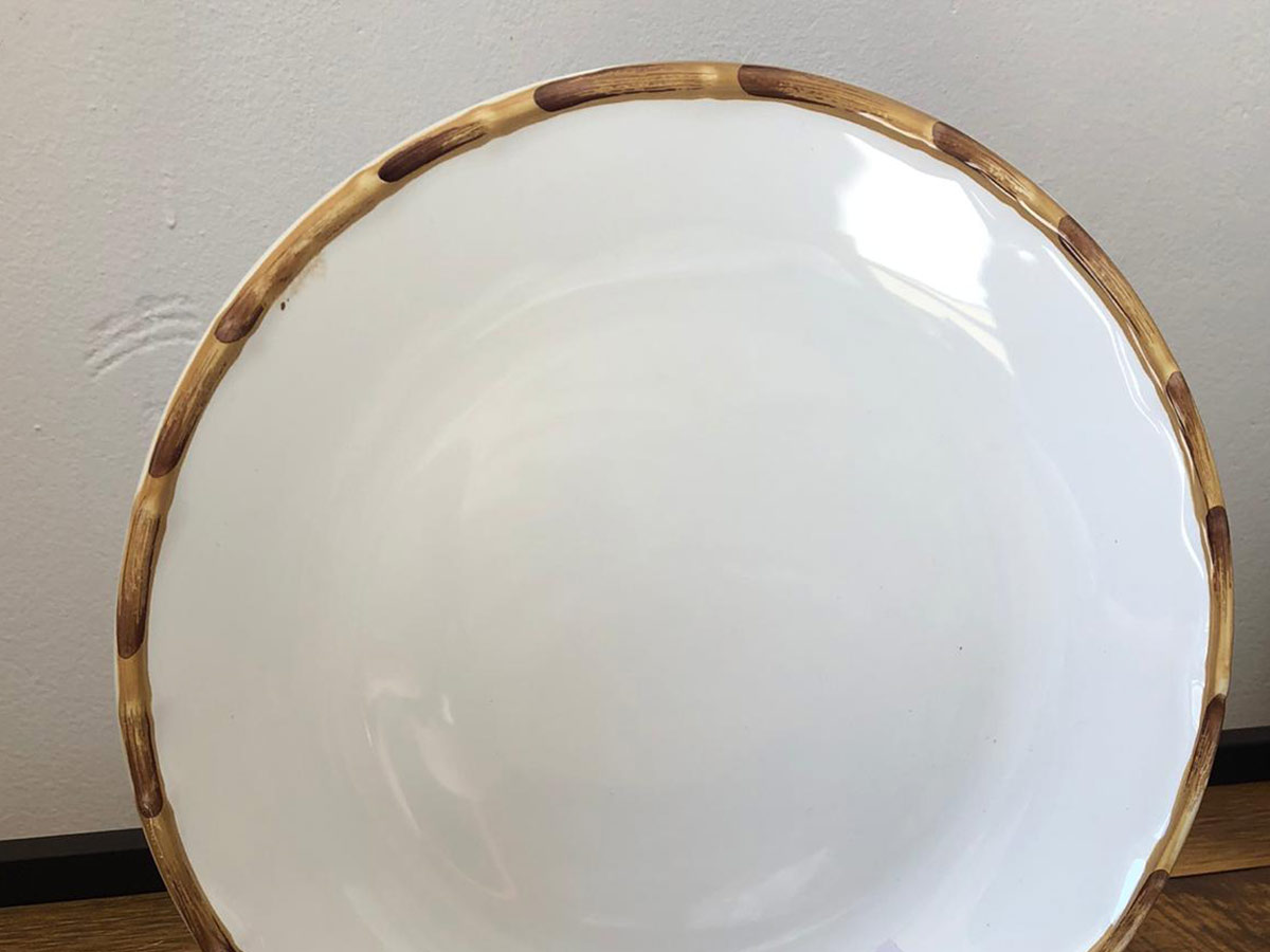 Jogo 10 Pratos Rasos Bambu Natural 27cm Scalla 2ªLinha  - Lemis