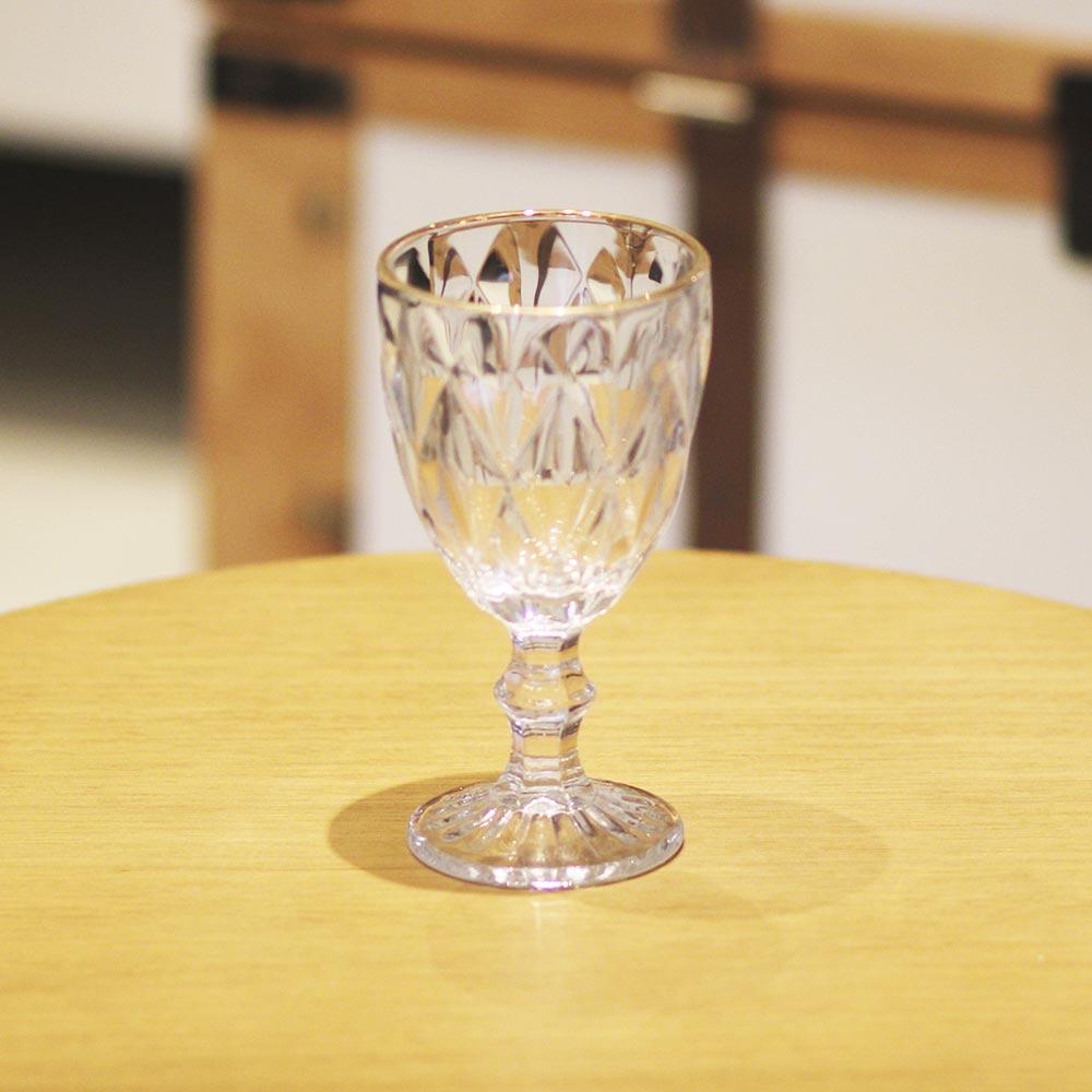 Jogo 10 Taça para água Diamond Dourada Lyor 325 ml  - Lemis