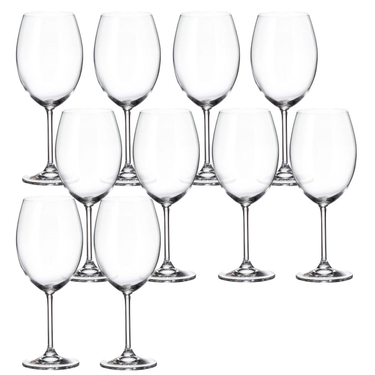 Jogo 10 Taça para Degustação de Vinho Cristal Ecológico 580 ml  - Lemis