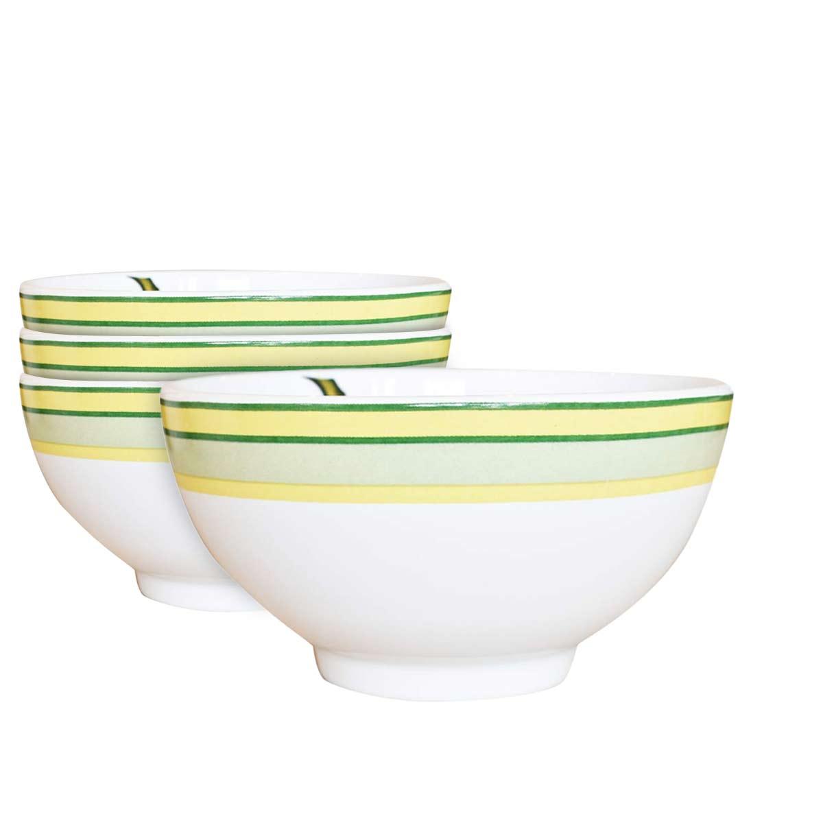 Jogo 4 Bowls para Cereal 480ml Bananas 1ª Linha Scalla  - Lemis