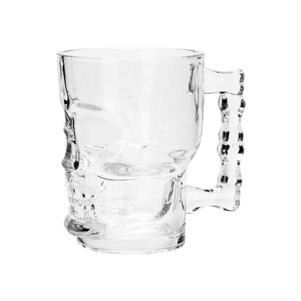 Jogo 4 Canecas para Chopp e Cerveja Caveira 510 ml  - Lemis