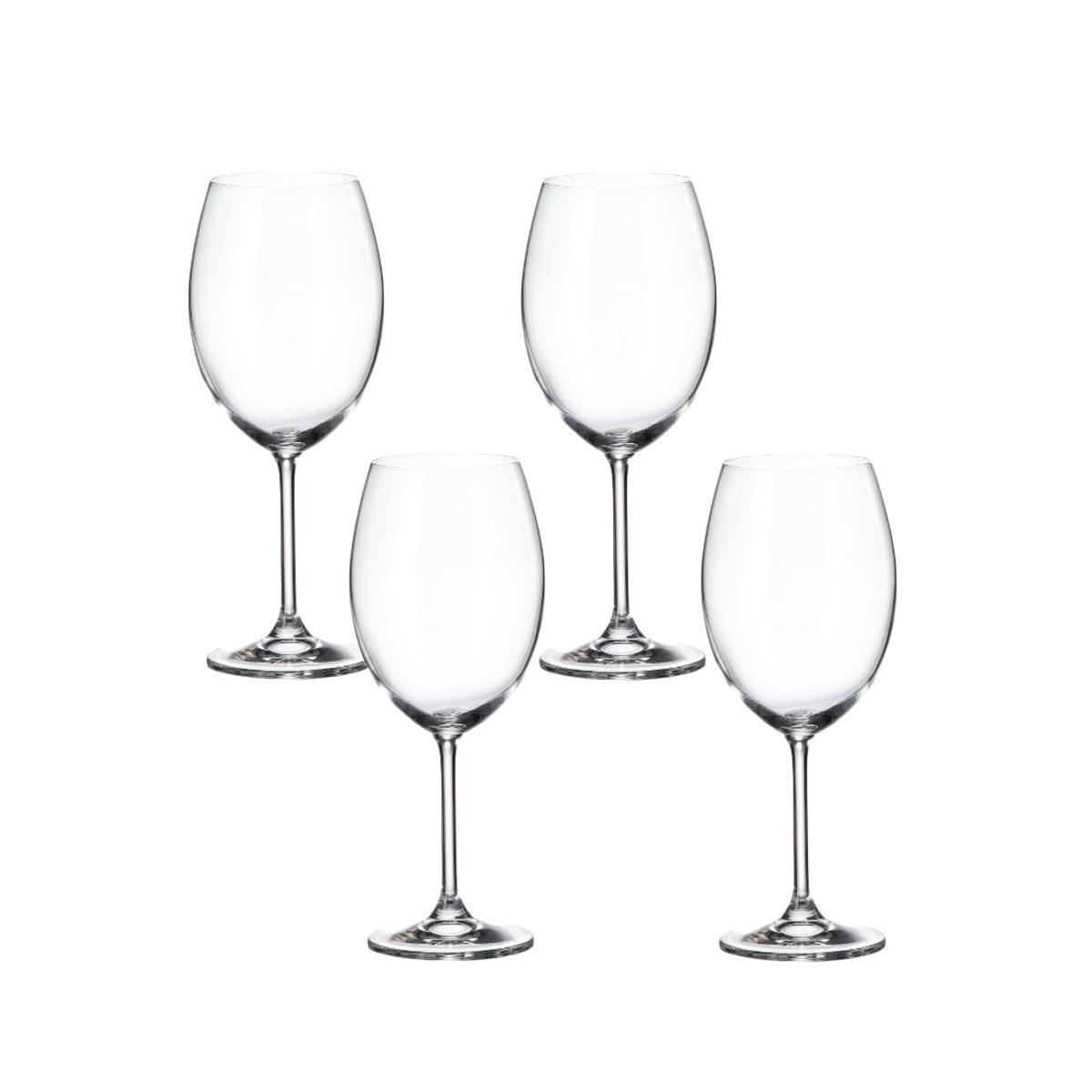 Jogo 4 Taça para Degustação de Vinho Cristal Ecológico 580 ml  - Lemis