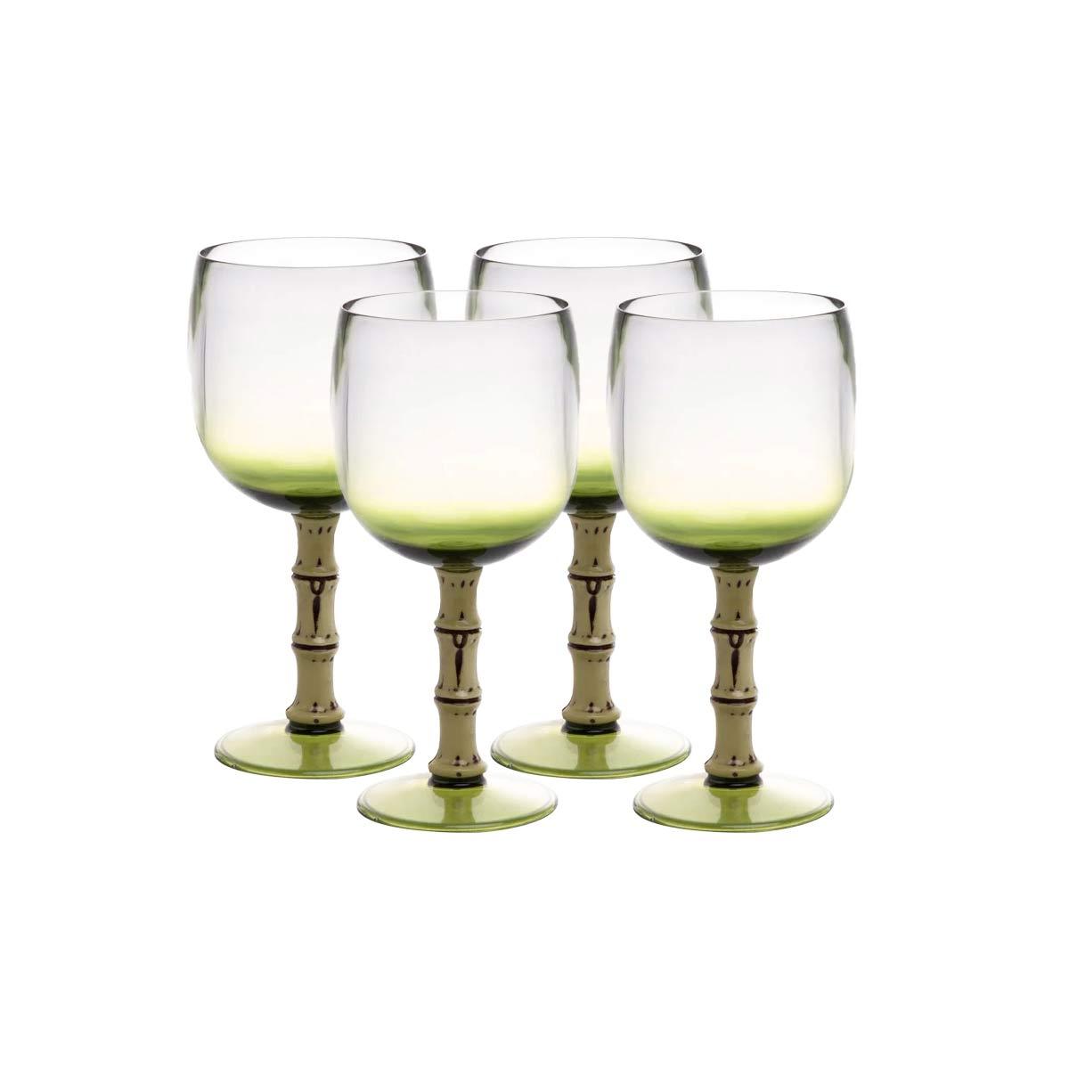 Jogo 4 Taças Acrílico Verde Bon Gourmet 500 ml  - Lemis