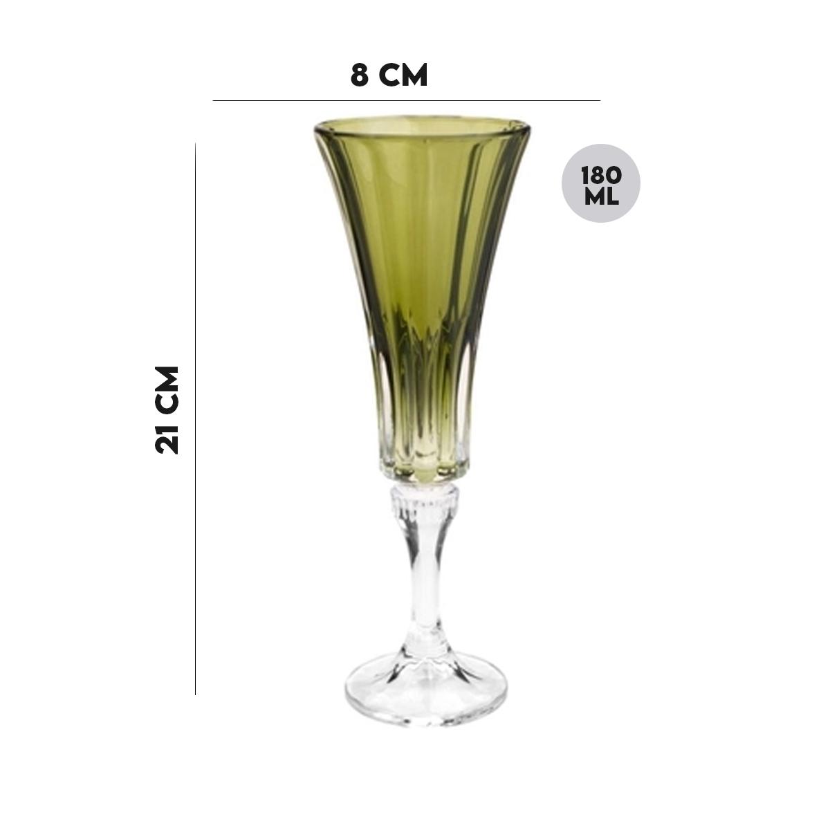 Jogo 4 Taças Cristal Ecológico para Champagne 180 ml  - Lemis