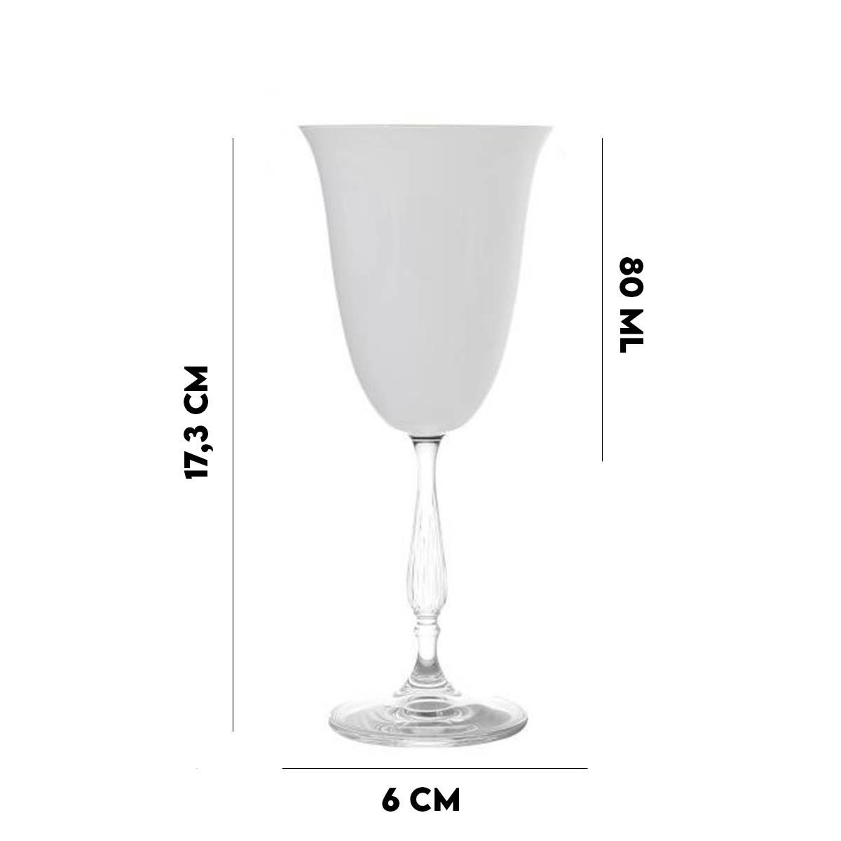Jogo 4 Taças de Vidro Lyor 80 ml  - Lemis