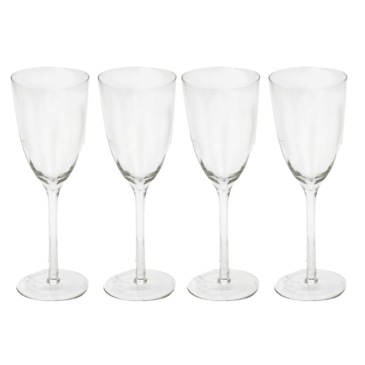 Jogo 4 Taças para Vinho Tinto Com Design BTC 380 ml  - Lemis