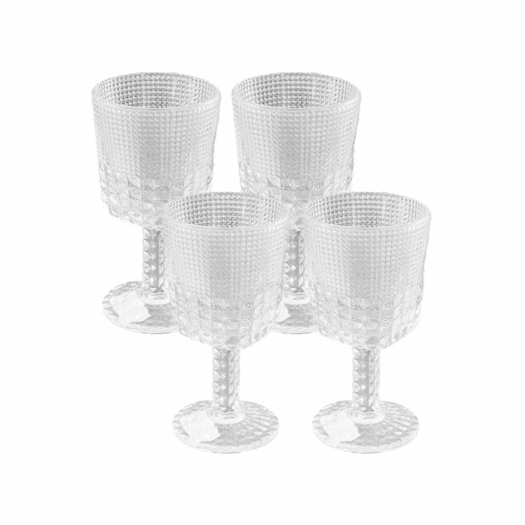 Jogo 4 Taças Transparente Vidro Btc 290 ml  - Lemis