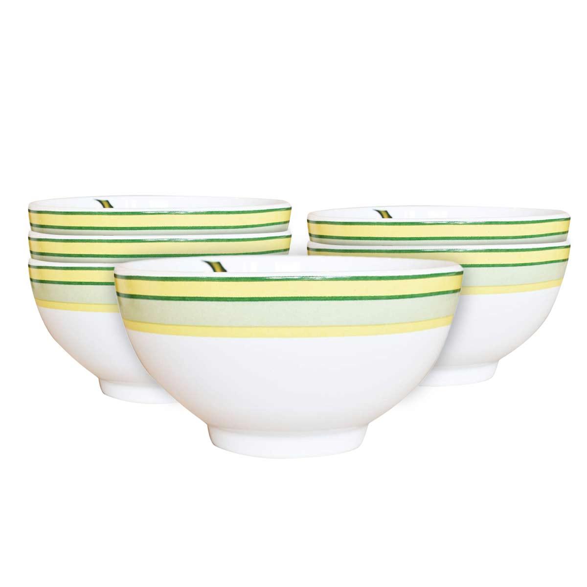 Jogo 6 Bowls para Cereal 480ml Bananas 1ª Linha Scalla  - Lemis