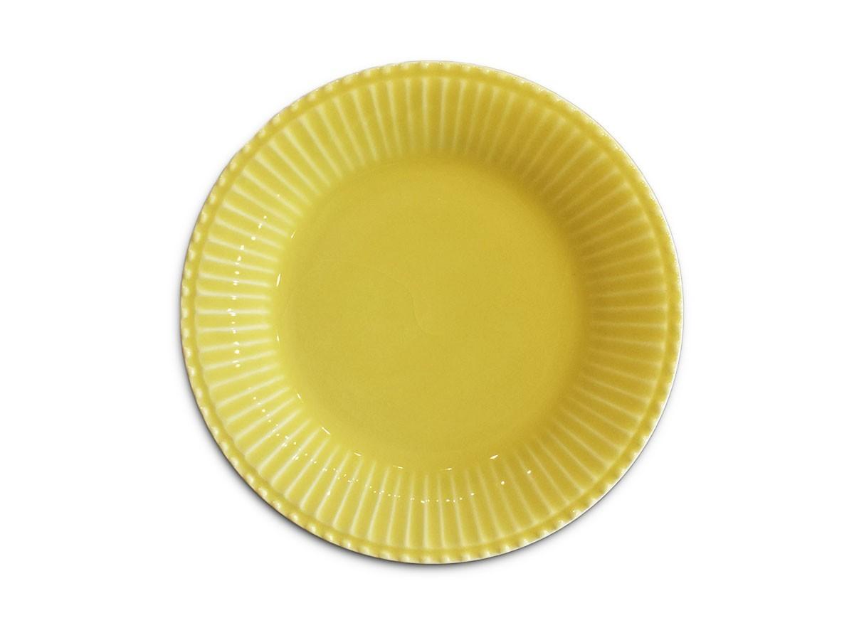 Jogo 6 Pratos de Sobremesa Frisada Amarelo 21cm  - Lemis