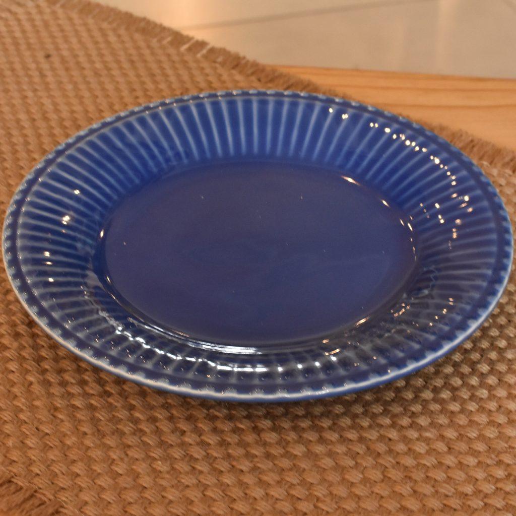 Jogo 6 Pratos de Sobremesa Frisada azul 20cm  - Lemis
