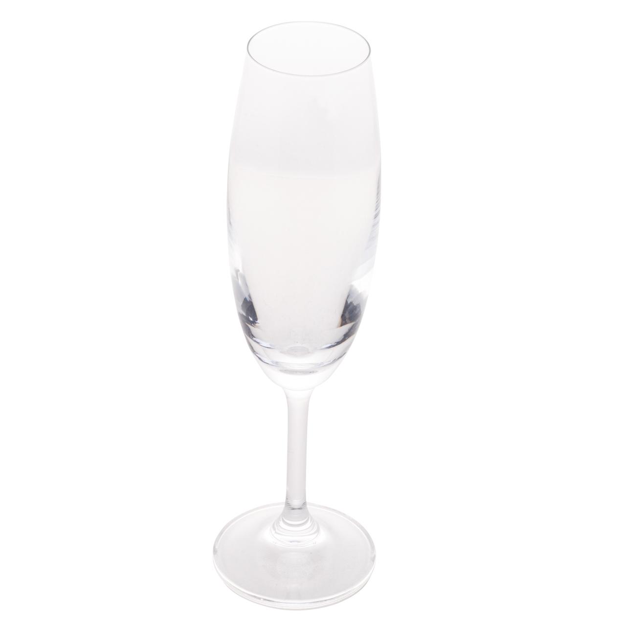Jogo 6 Taça para Degustação Champagne de Cristal Ecológico 220 ml  - Lemis
