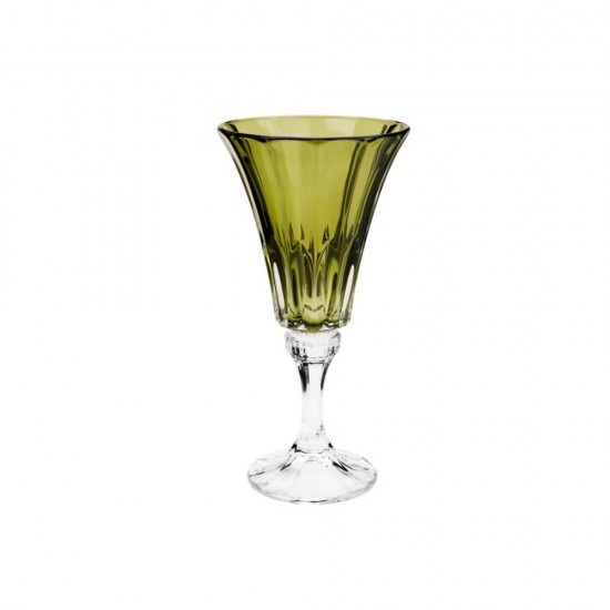 Jogo 6 Taças Cristal Ecológico para Água Verde 280 ml  - Lemis