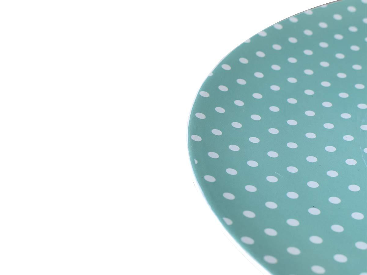Jogo 8 Sousplats 33cm de Plástico Romance Pois Azul  - Lemis