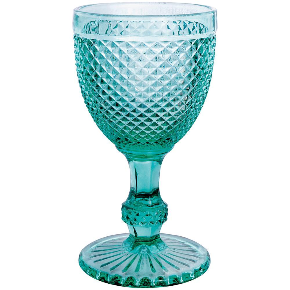 Jogo 8 Taças imperial Vidro Azul Tiffany 300 ml  - Lemis