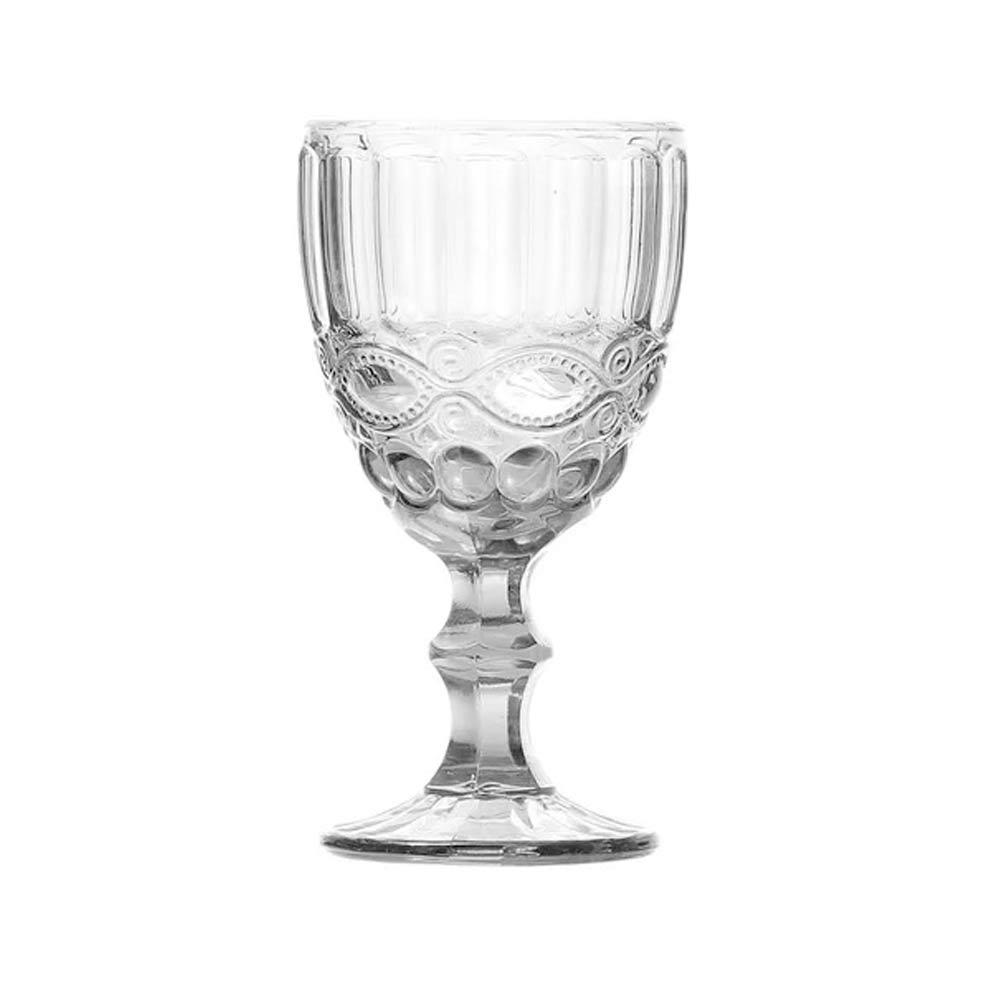 Jogo 8 Taças para Vinho de Vidro Libélula Transparente 250ml  - Lemis