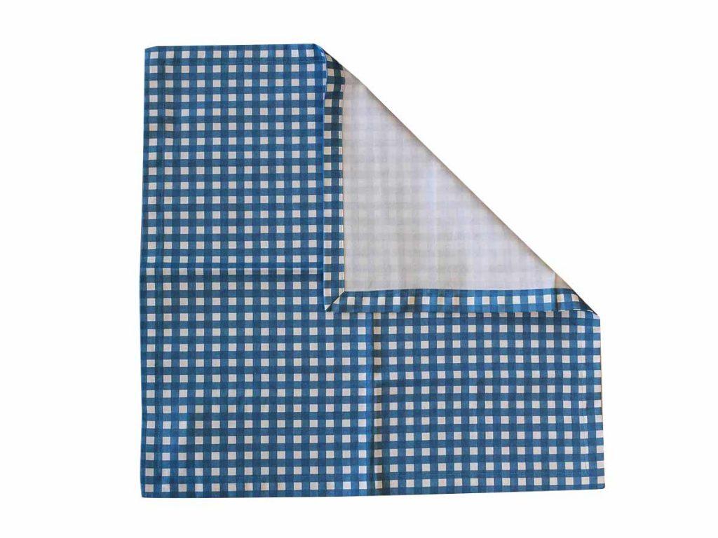 Jogo Americano Quadriculado Azul  - Lemis