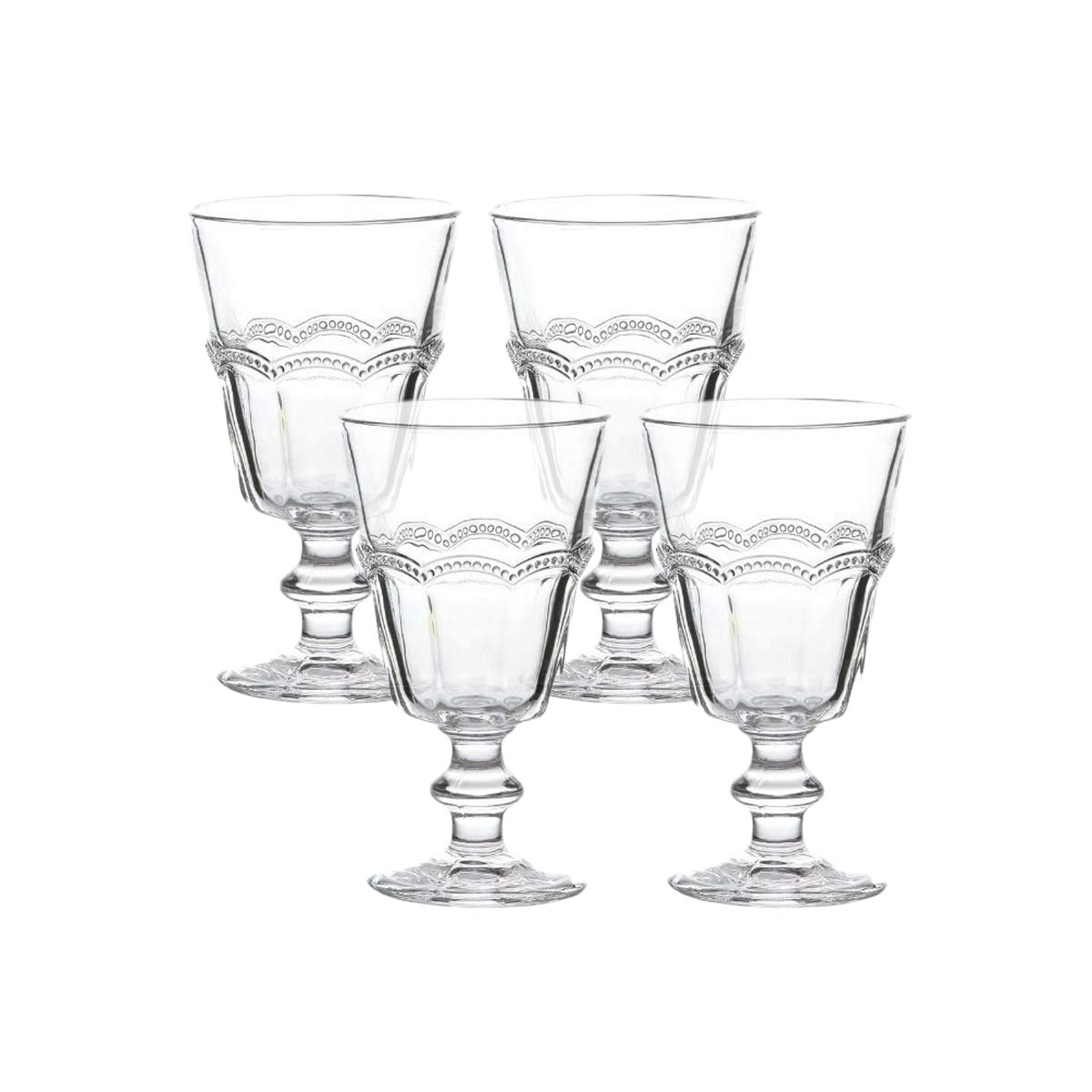 Jogo de 4 Taças para Água de Vidro Belle Epoque 325 ml  - Lemis