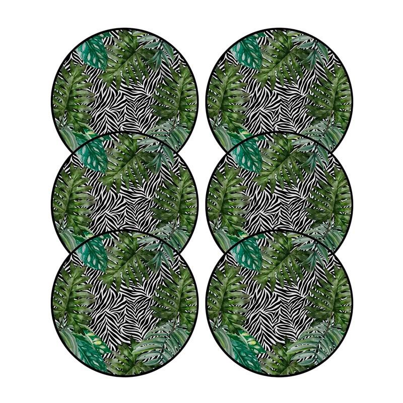 Jogo 6 Pratos de Sobremesa Alleanza Tanzania 19,5cm 2ª Linha  - Lemis