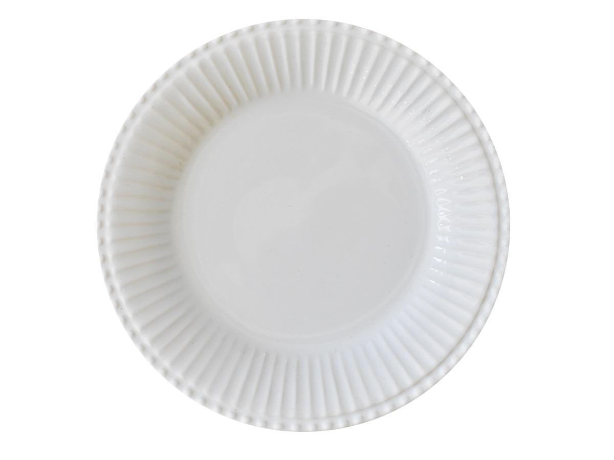Kit 4 Pratos Rasos Frisado Branco 1º Linha Scalla  - Lemis