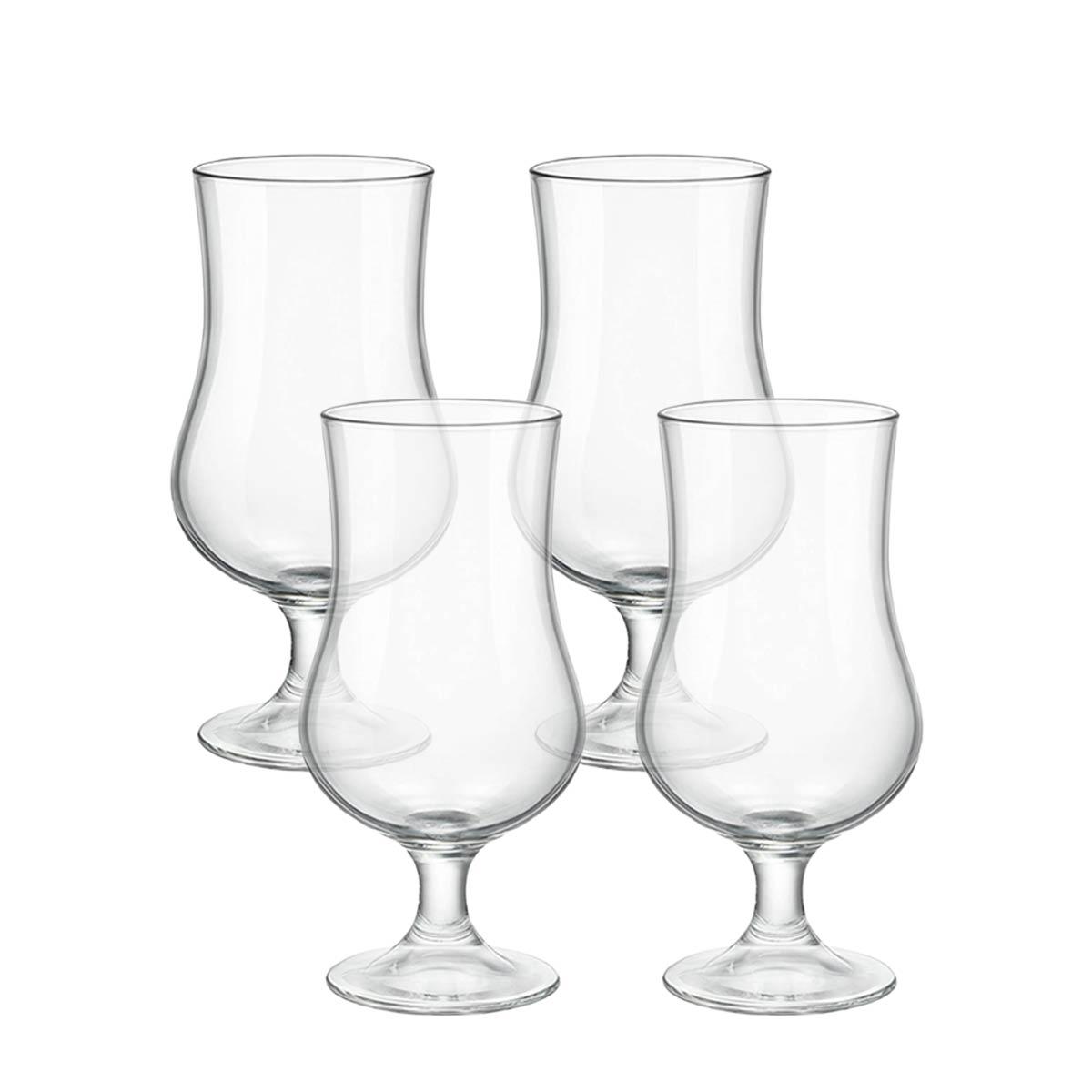 Kit 4 Taças Cerveja de Vidro Transparente 420 ml  - Lemis