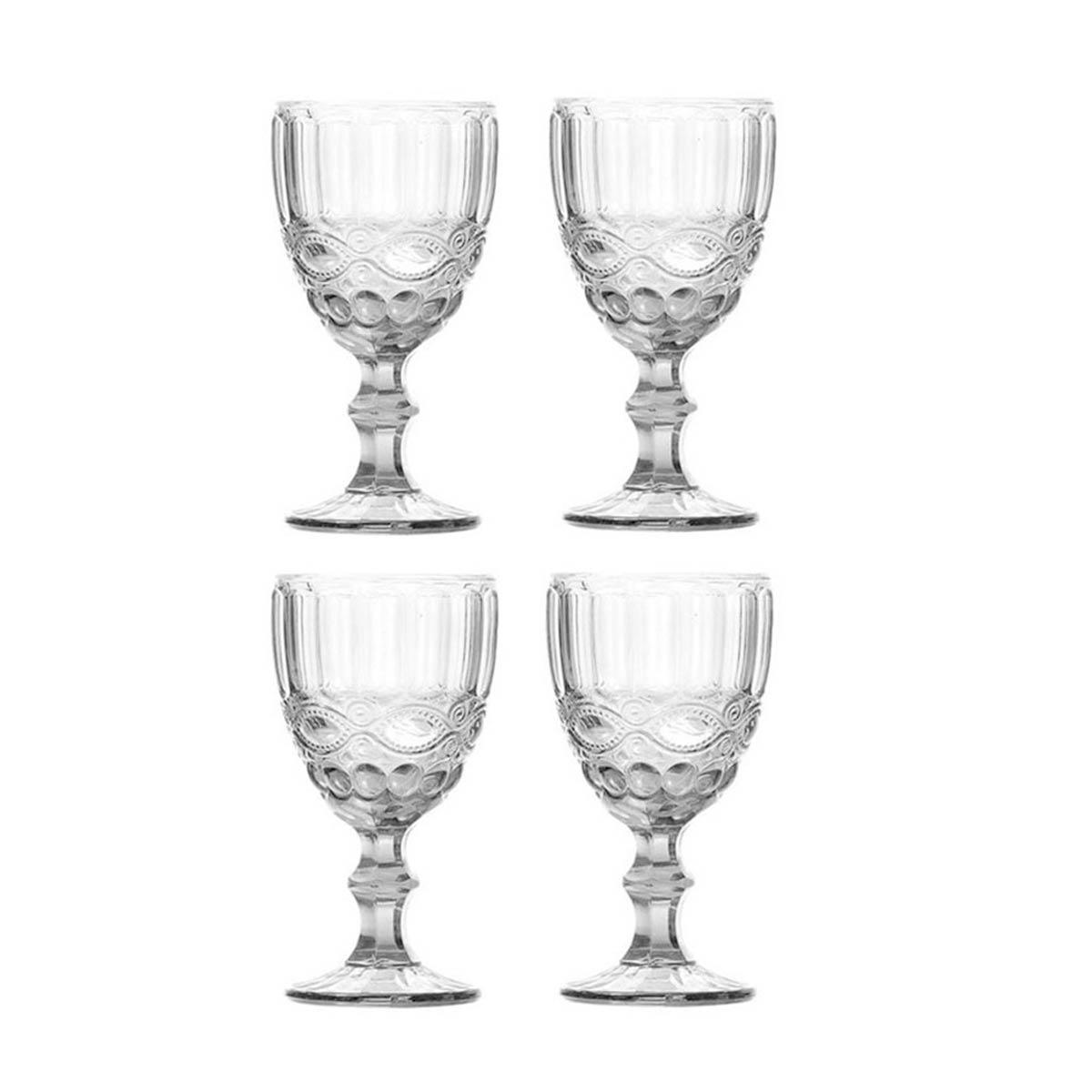 Kit 4 Taças de Água de Vidro Libélula Transparente 310 ml  - Lemis