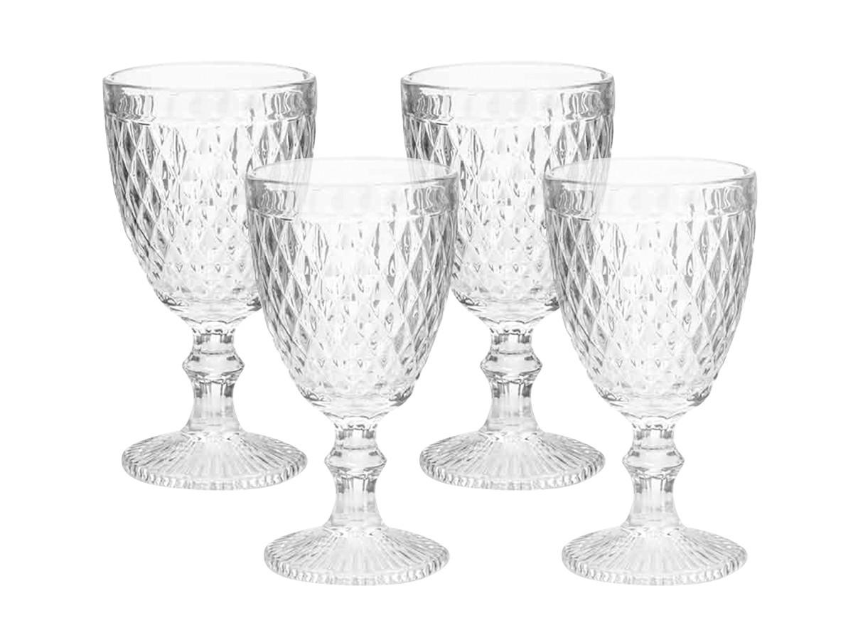 Kit 4 taças para Água Albany 320 ml Vidro Transparente Home e Co  - Lemis
