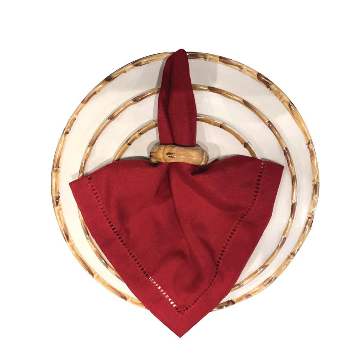 Kit 6 Anéis Porta Guardanapo Argola Bambu Scalla  - Lemis