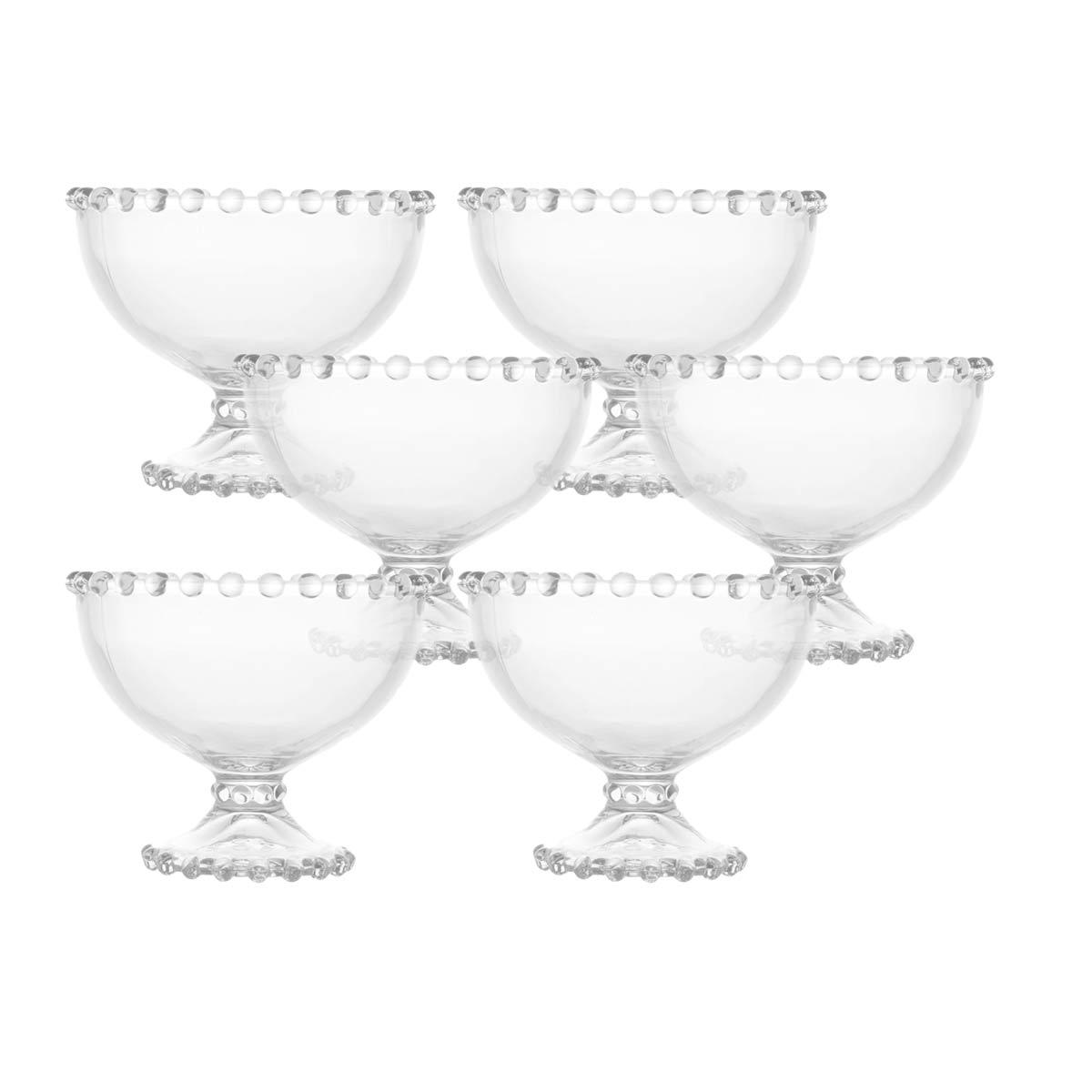 Kit 6 Taças Cristal de Chumbo para Sobremesa Pearl Wolff  - Lemis