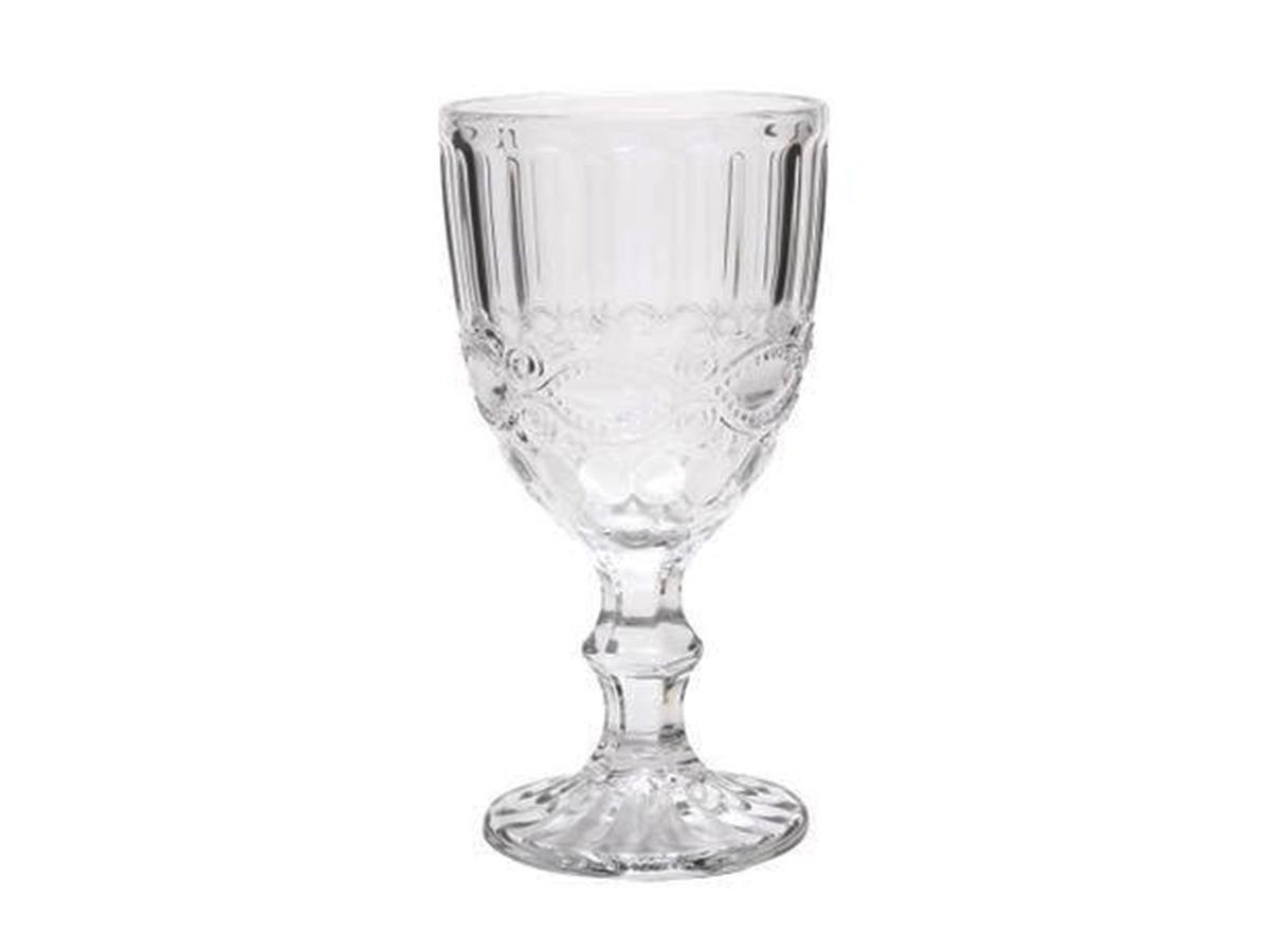 Kit 6 Taças de Água de Vidro Libélula Transparente 310 ml  - Lemis