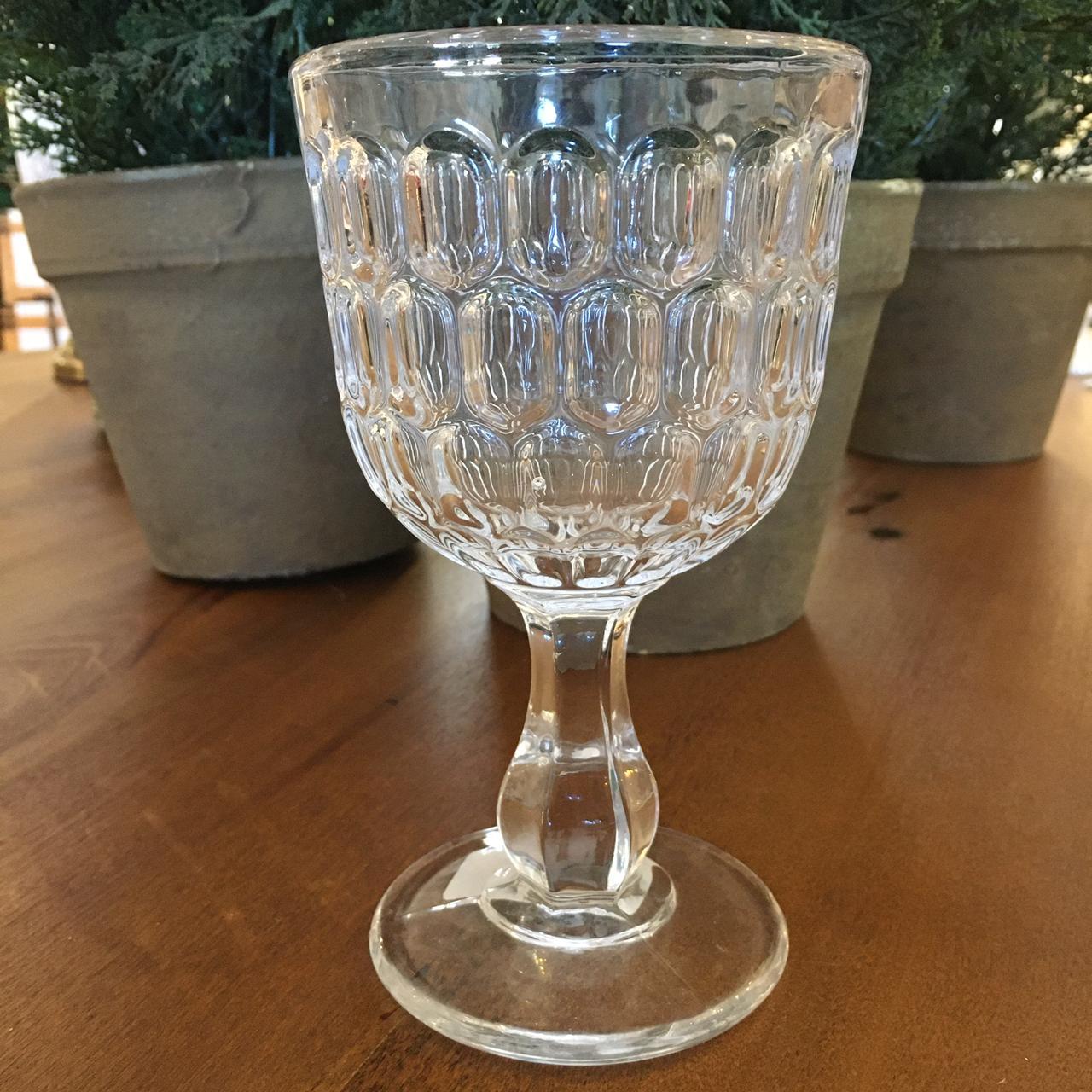 Kit 6 Taças para Água de Vidro Transparente BTC 300ml  - Lemis