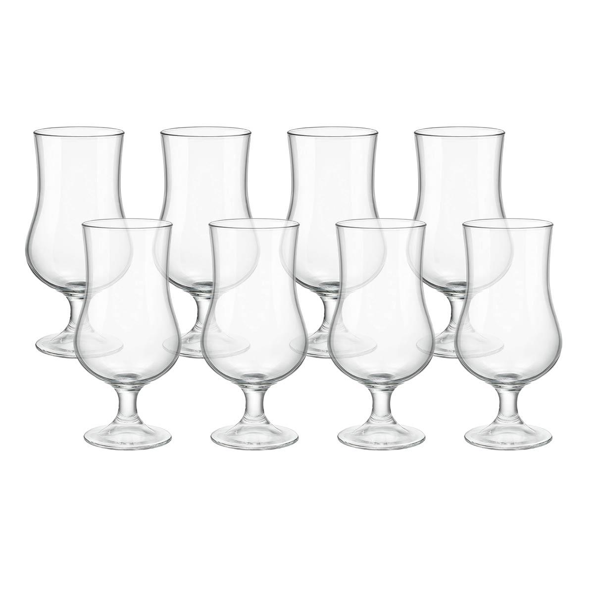 Kit 8 Taças de Vidro Transparente 420 ml  - Lemis