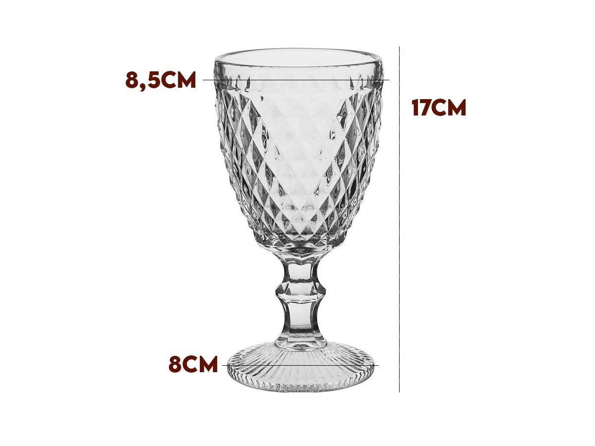 Kit 8 taças para Água Albany 320 ml Vidro Transparente Home e Co  - Lemis