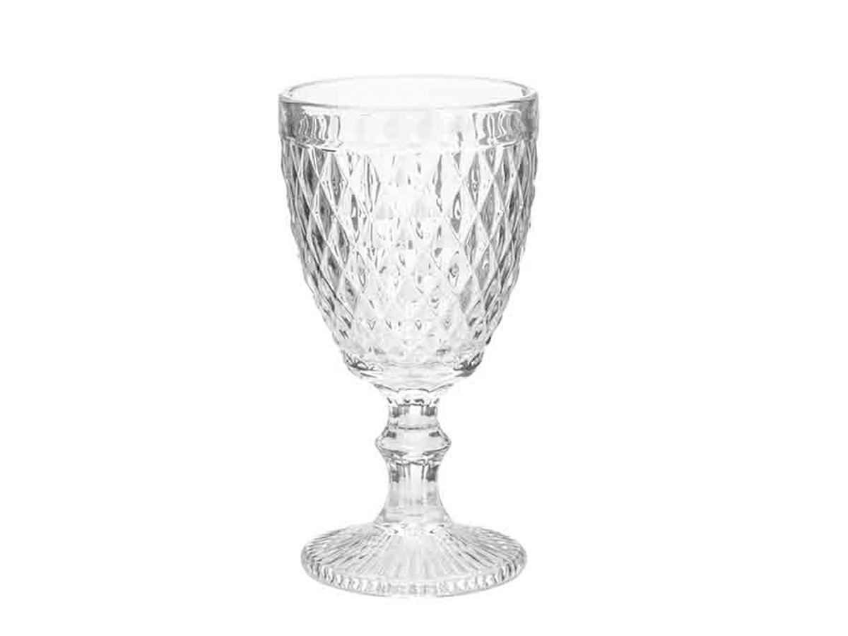Kit 8 Taças para Água de Vidro Sodo-Cálcico Bico de Abacaxi Transparente  - Lemis